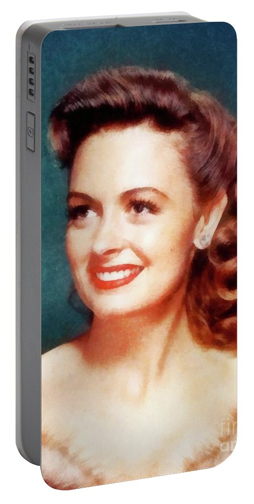 Hollywood Portable Battery Charger featuring the painting Donna Reed By John Springfield by John Springfield