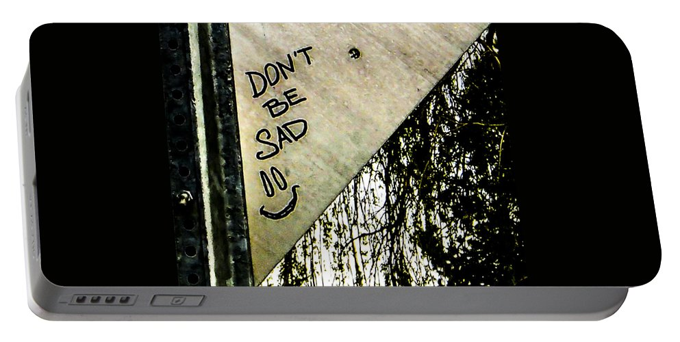 Pocket Camera Portable Battery Charger featuring the photograph Dont Be Sad by Angus Hooper Iii