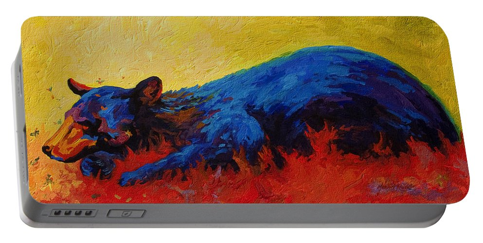 Western Portable Battery Charger featuring the painting Dont Bug Me by Marion Rose