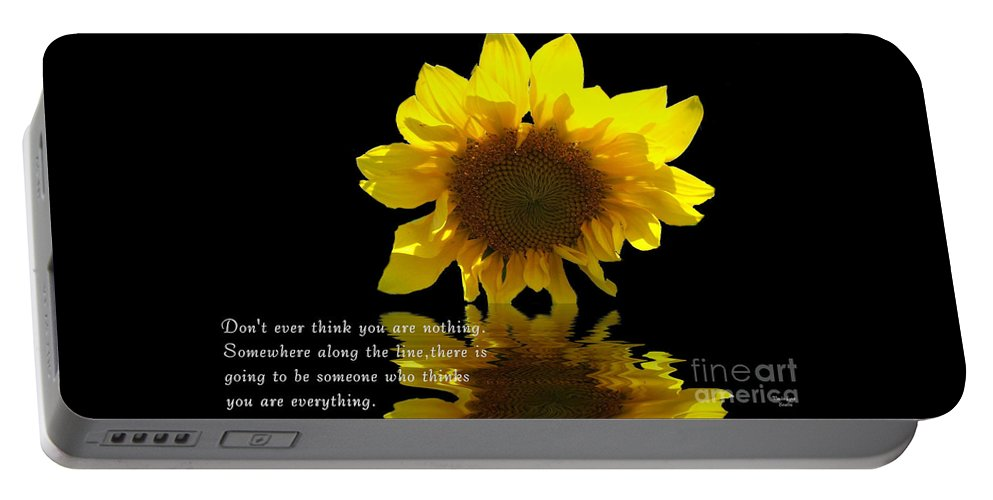 Digital Darkroom Portable Battery Charger featuring the photograph Don't Ever Think You Are Nothing by Wanda-Lynn Searles