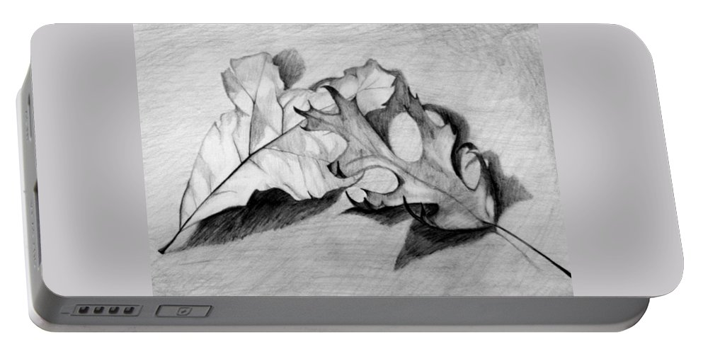 Fall Portable Battery Charger featuring the drawing Don't Leaf Me by Jean Haynes