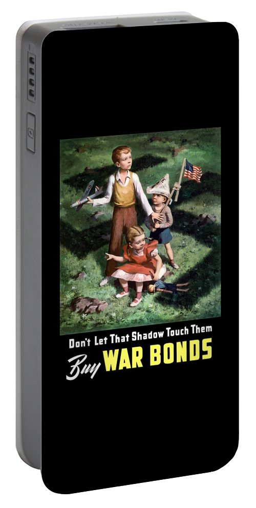 World War Ii Portable Battery Charger featuring the painting Don't Let That Shadow Touch Them by War Is Hell Store