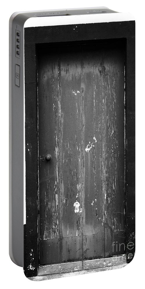 Closed Portable Battery Charger featuring the photograph Door by Gaspar Avila