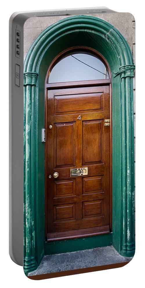 Door Portable Battery Charger featuring the photograph Door In Ireland by Douglas Barnett