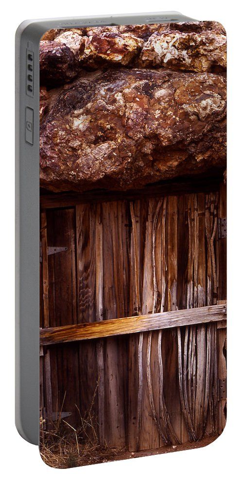 Door Portable Battery Charger featuring the photograph Door by Karen Ulvestad