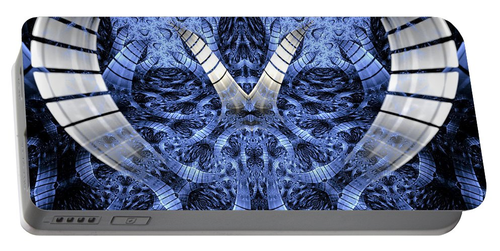 Fractal Portable Battery Charger featuring the digital art Door To Another World by Amorina Ashton