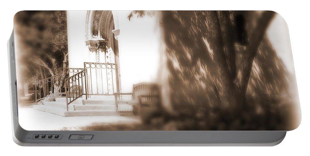 Lauren Radke Portable Battery Charger featuring the photograph Door To Yesterday by Lauren Radke