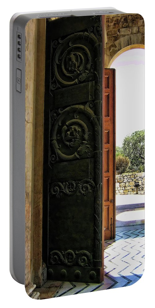 Doors Portable Battery Charger featuring the photograph Doors To All Nations by Douglas Barnard