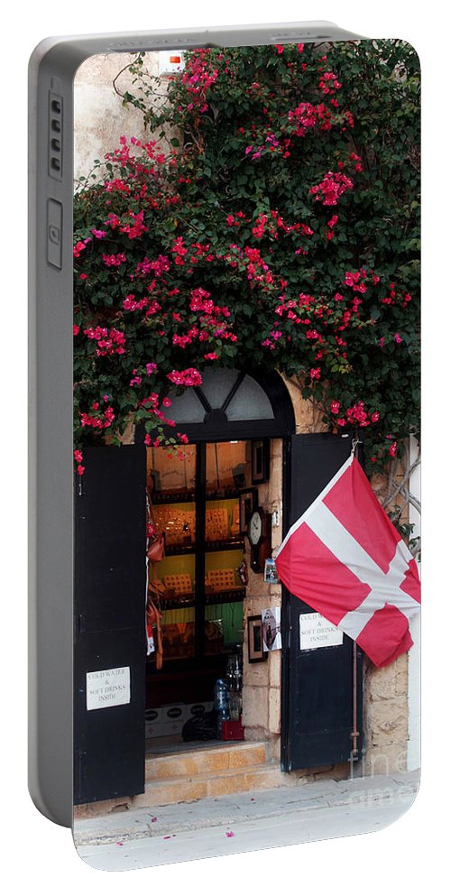 Island Of Malta Portable Battery Charger featuring the photograph Doorway Malta by Tom Prendergast