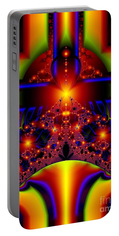 Door Art Portable Battery Charger featuring the digital art Doorway To The Universe Detail by Ron Bissett