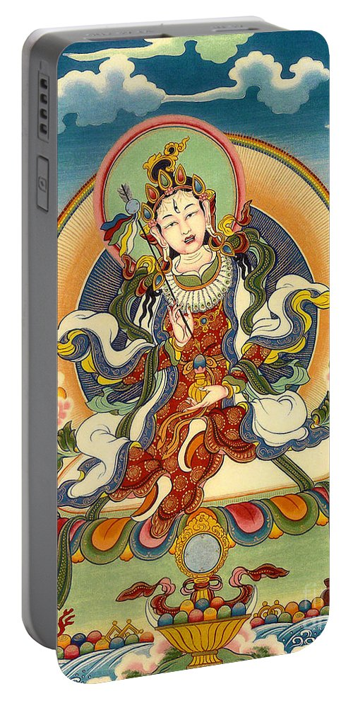 Thangka Portable Battery Charger featuring the painting Dorje Yudronma by Sergey Noskov