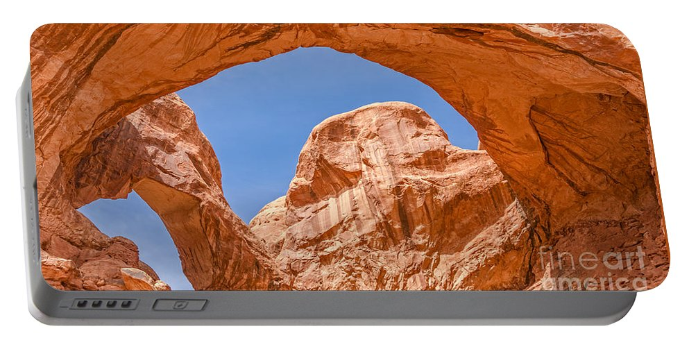 Arches Portable Battery Charger featuring the photograph Double Arch At Arches National Park by Sue Smith