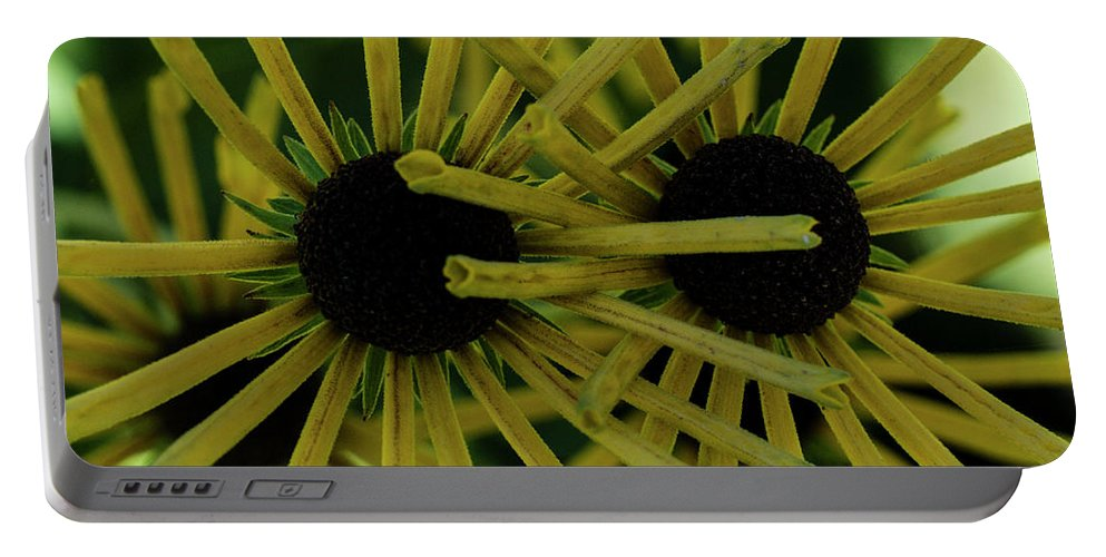 Flower Portable Battery Charger featuring the photograph Double Bloom by Christopher Chan