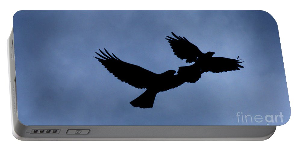 Birds Portable Battery Charger featuring the photograph Double Silhouette by Lori Tambakis