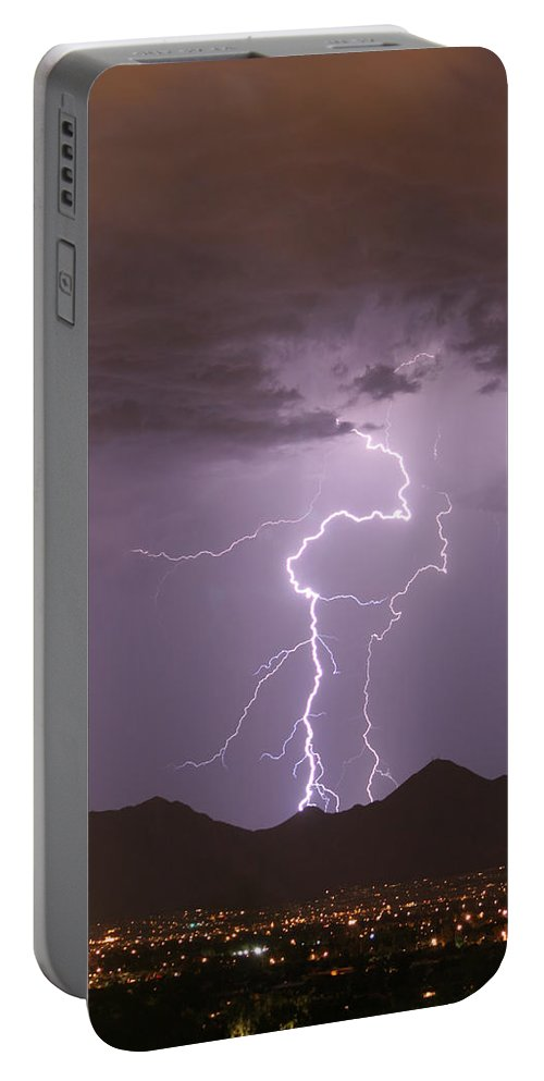Lightning Portable Battery Charger featuring the photograph Double Trouble Fine Art Lightning Photography by James BO Insogna