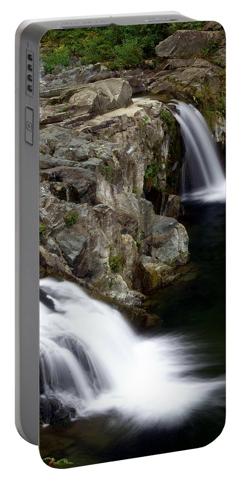 Waterfalls Portable Battery Charger featuring the photograph Double Twin by Marty Koch