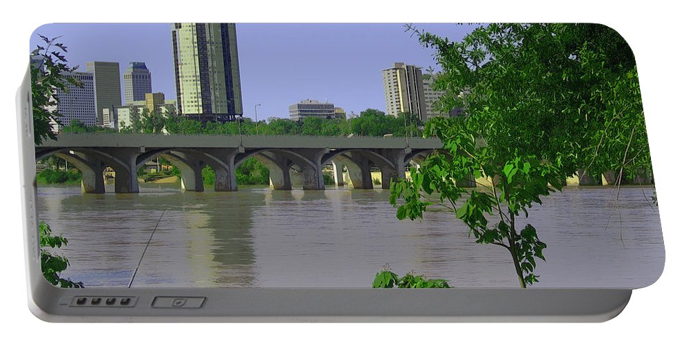 Tulsa Portable Battery Charger featuring the photograph Down By The River by Susan Vineyard