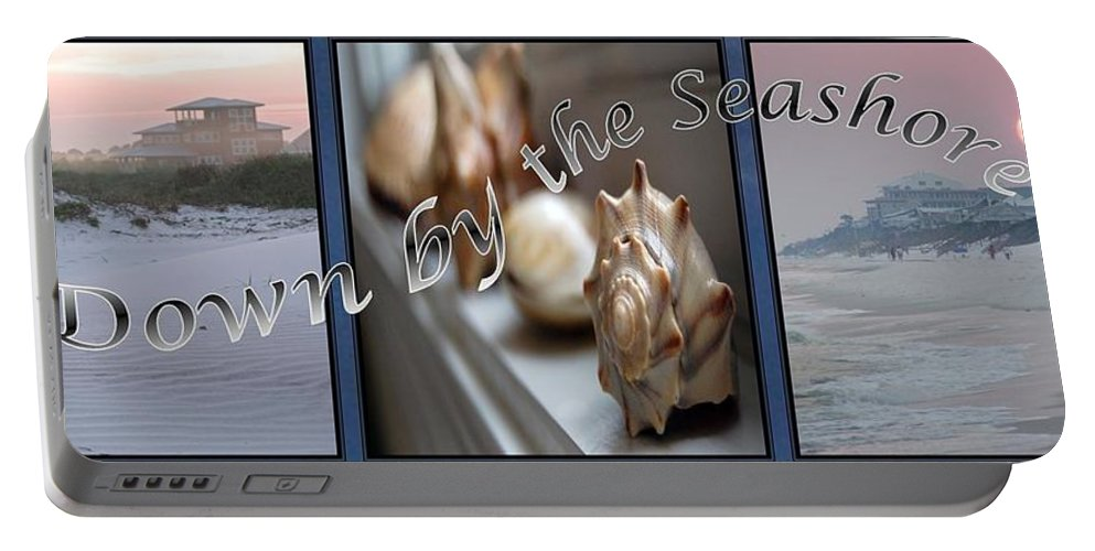 Shells Portable Battery Charger featuring the digital art Down By The Seashore by Robert Meanor