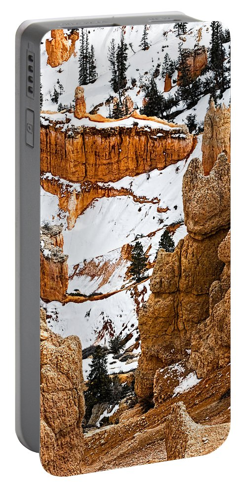 Bryce Canyon Portable Battery Charger featuring the photograph Down Into The Canyon by Christopher Holmes