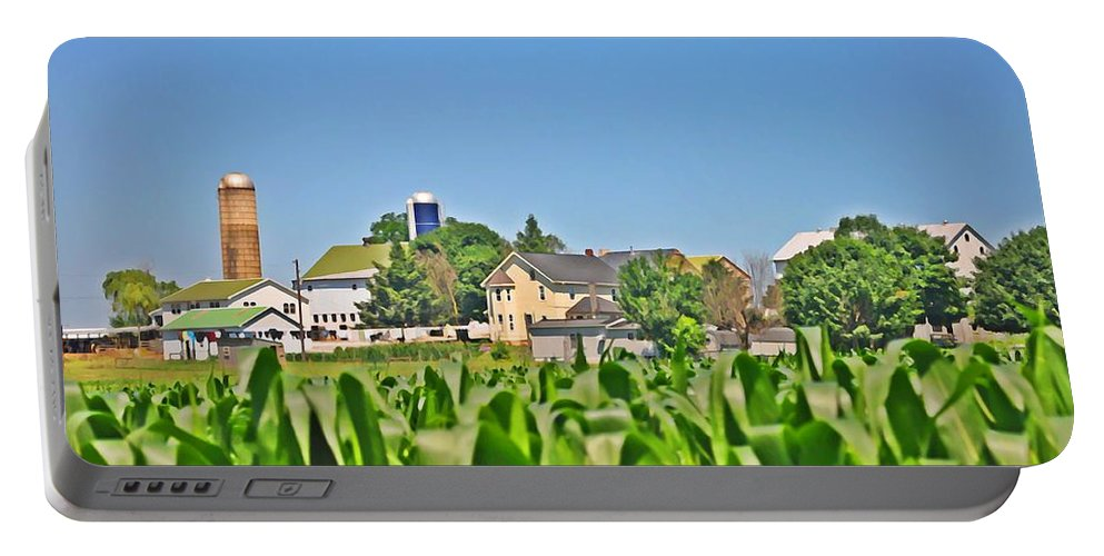 Gettysburg Portable Battery Charger featuring the photograph Down On The Farm by Bill Cannon