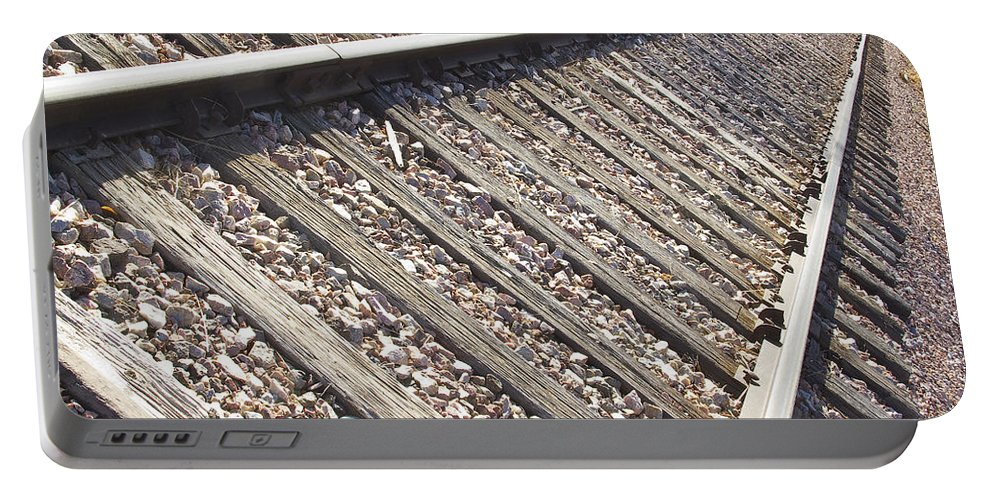 Railroad Portable Battery Charger featuring the photograph Down The Railroad by James BO Insogna