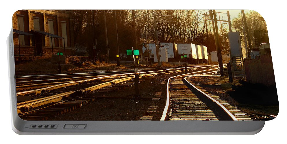 Landscape Portable Battery Charger featuring the photograph Down The Right Track 2 by Steve Karol