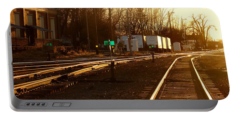 Landscape Portable Battery Charger featuring the photograph Down The Right Track by Steve Karol