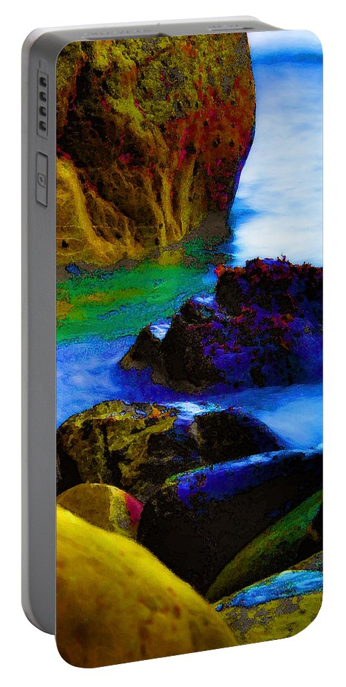 Digital Artwork Portable Battery Charger featuring the digital art Down To The Sea by Donna Blackhall