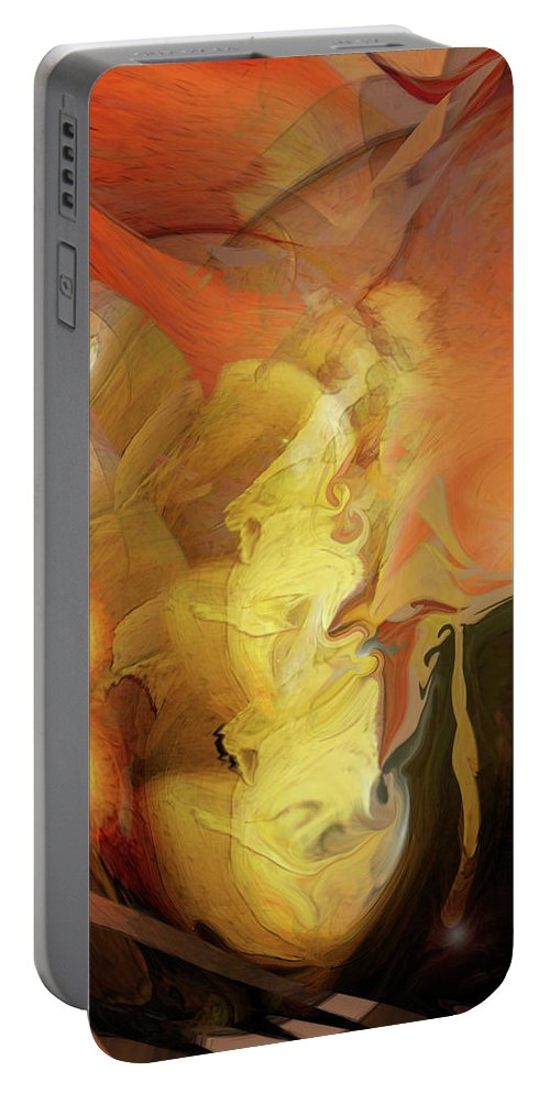 Down Under Portable Battery Charger featuring the digital art Down Under by Linda Sannuti