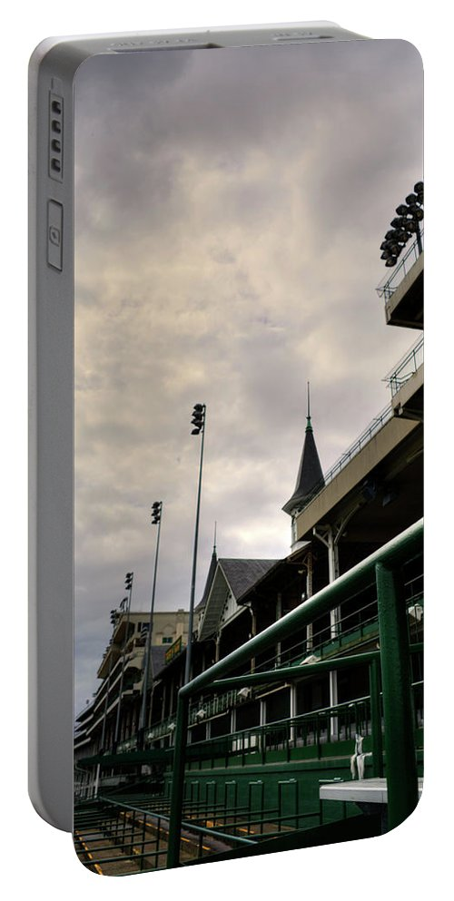 Royal Portable Battery Charger featuring the photograph Downs Stadium by FineArtRoyal Joshua Mimbs