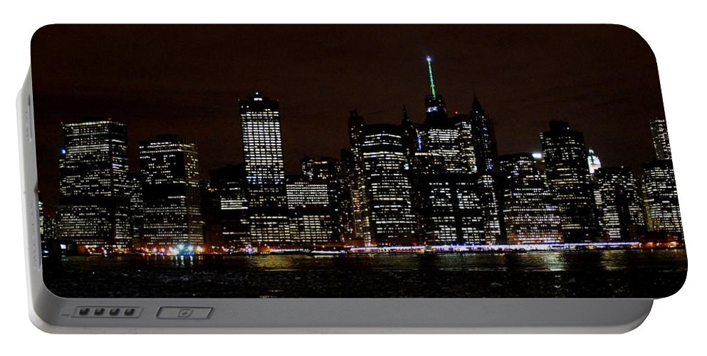 Freedom Portable Battery Charger featuring the photograph Downtown At Night by John Wall