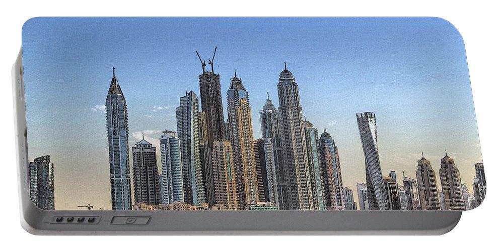 City Portable Battery Charger featuring the digital art Downtown Dubai by Sandeep Gangadharan