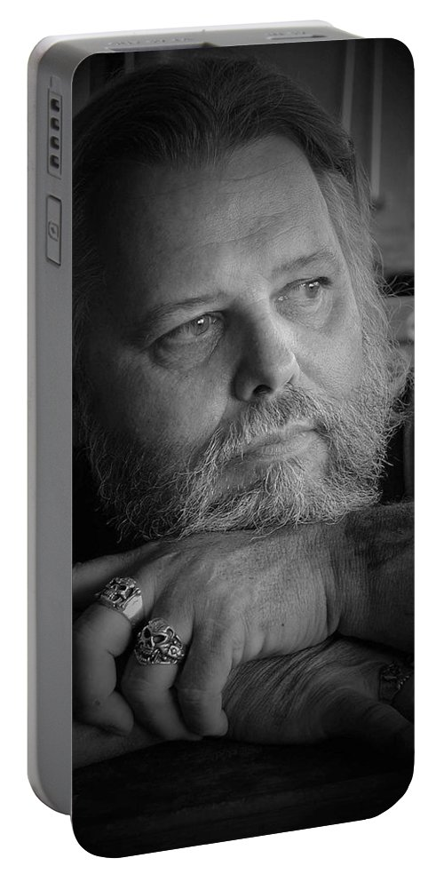 Biker Portable Battery Charger featuring the photograph Dr. Nick by D'Arcy Evans