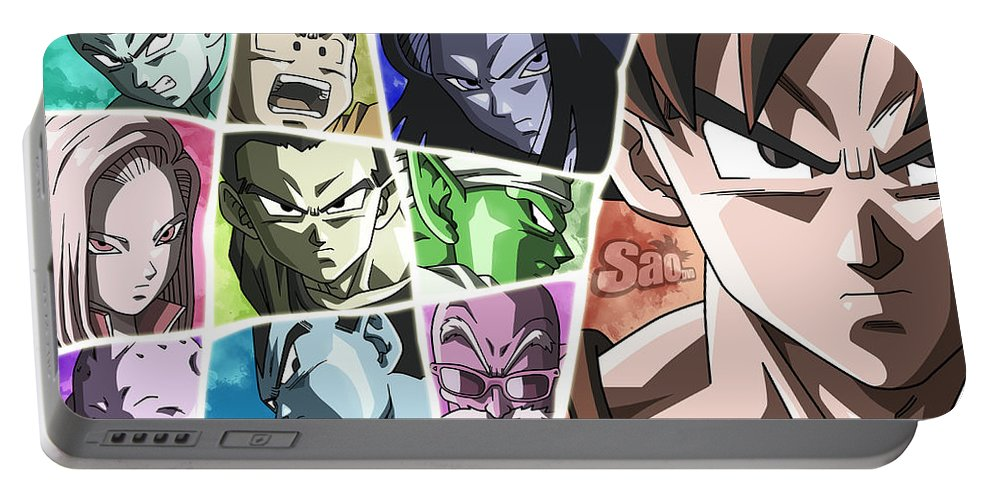 Goku New Form Portable Battery Charger featuring the digital art Dragon Ball Super by Babbal Kumar