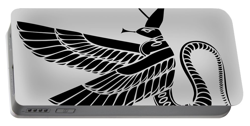 Dragon Portable Battery Charger featuring the digital art Dragon by Michal Boubin