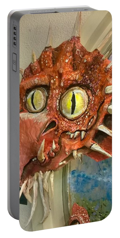 Art Portable Battery Charger featuring the sculpture Dragon Sculpture by Suzy Ripley