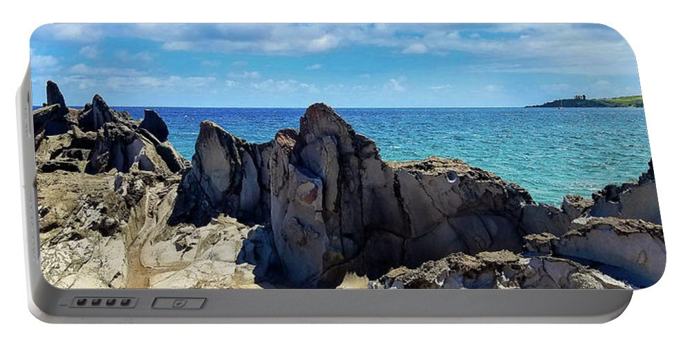 Maui Portable Battery Charger featuring the photograph Dragons Teeth by Frank Testa