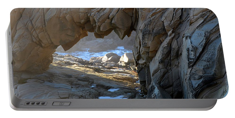 Arch Portable Battery Charger featuring the photograph Dragons Teeth Salt Point California by Bob Christopher