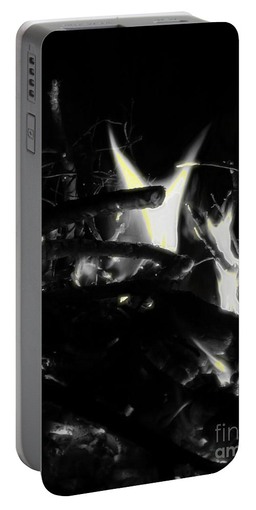 Black Portable Battery Charger featuring the photograph Drained by September Stone