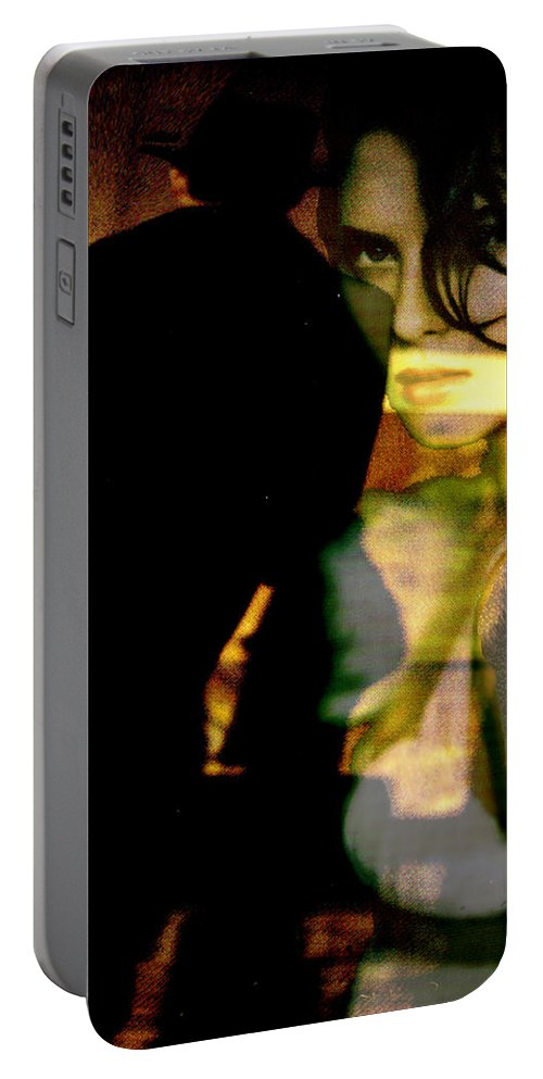 Mystery Portable Battery Charger featuring the digital art Drama After Dark by Seth Weaver