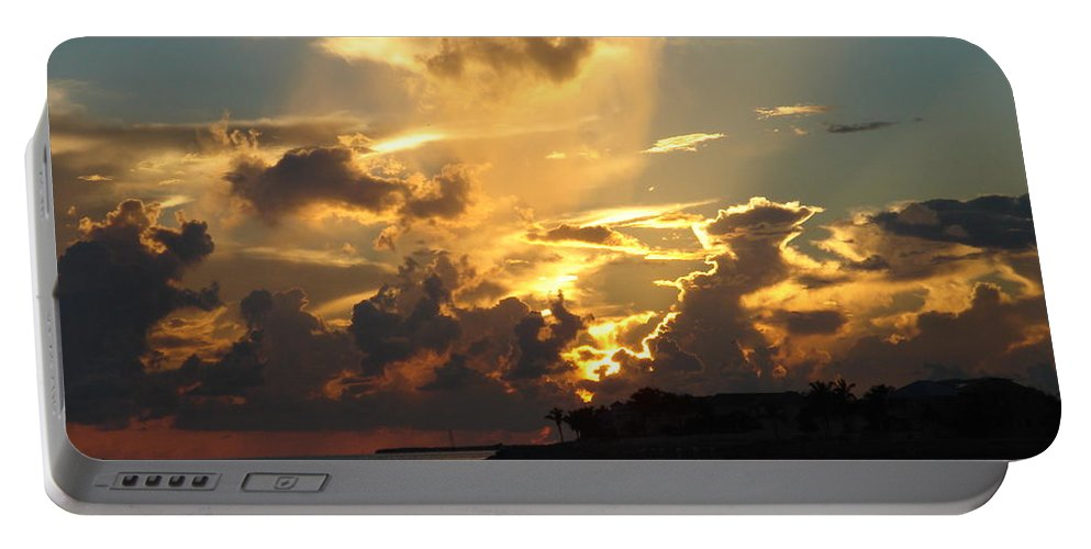 Photography Portable Battery Charger featuring the photograph Dramatic Clouds by Susanne Van Hulst