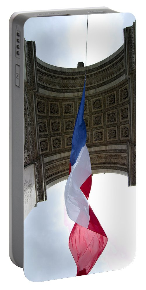 French Portable Battery Charger featuring the photograph Drapeau Francais by Robert Ponzoni
