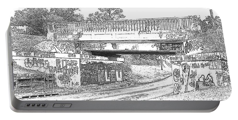 Drawing Portable Battery Charger featuring the photograph Drawing The Bridge by Michelle Powell