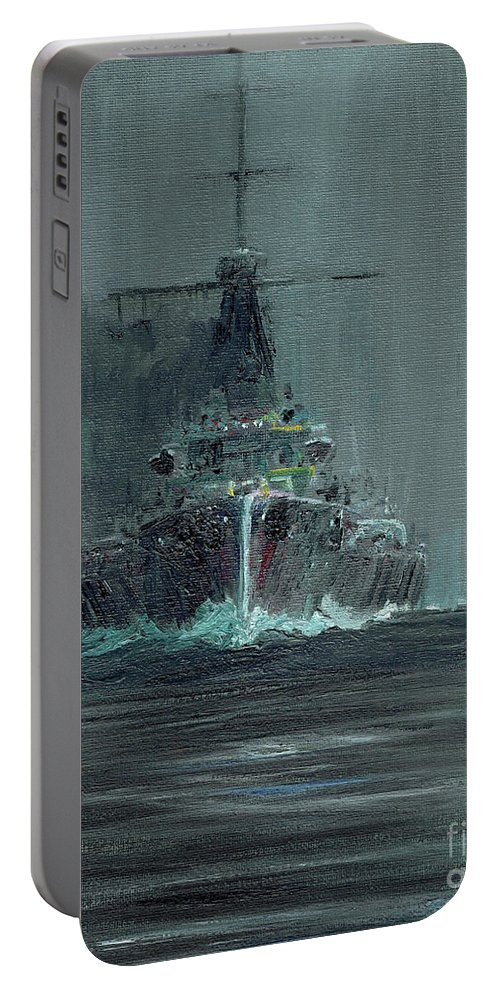 Dreadnought Portable Battery Charger featuring the painting Dreadnought 1907 by Vincent Alexander Booth