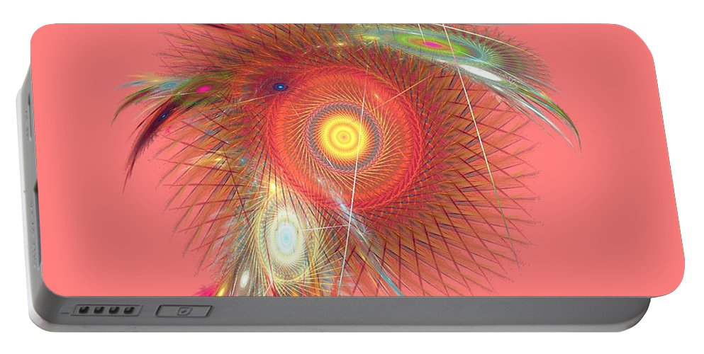 Fractal Portable Battery Charger featuring the digital art Dream Catcher by Richard Ortolano