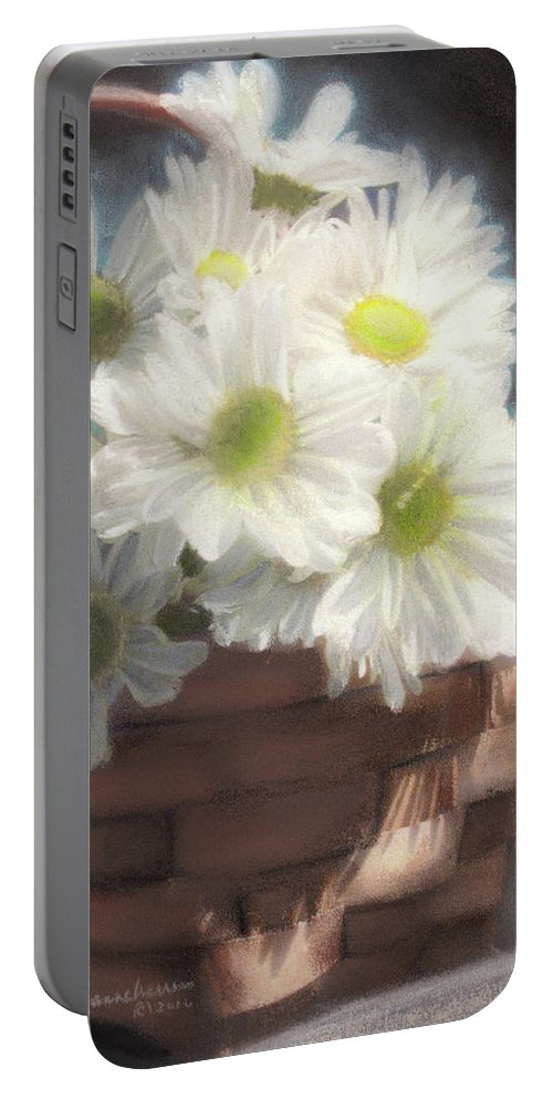 Daisies Portable Battery Charger featuring the painting Dream Daisies by Melissa Herrin