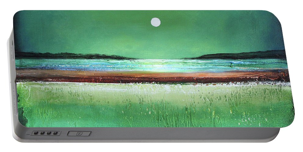 Modern Art Portable Battery Charger featuring the painting Dream Day by Toni Grote