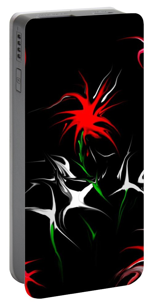 Abstract Portable Battery Charger featuring the digital art Dream Garden II by David Lane