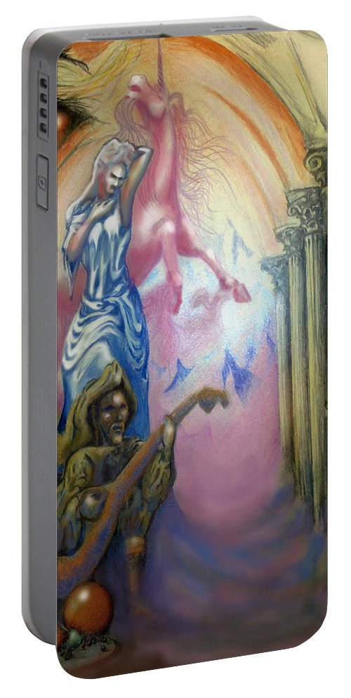 Dream Portable Battery Charger featuring the painting Dream Image 1 by Kevin Middleton