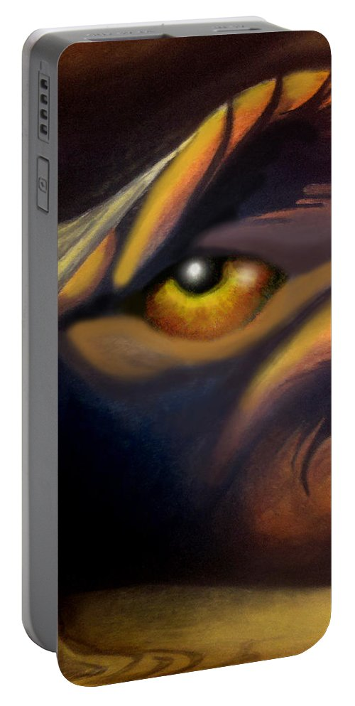 Dream Portable Battery Charger featuring the painting Dream Image 2 by Kevin Middleton